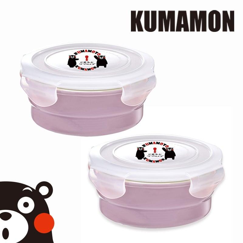 【KUMAMON酷Ma萌】鑄瓷可微波烤箱保鮮盒800ml(圓型)2入組