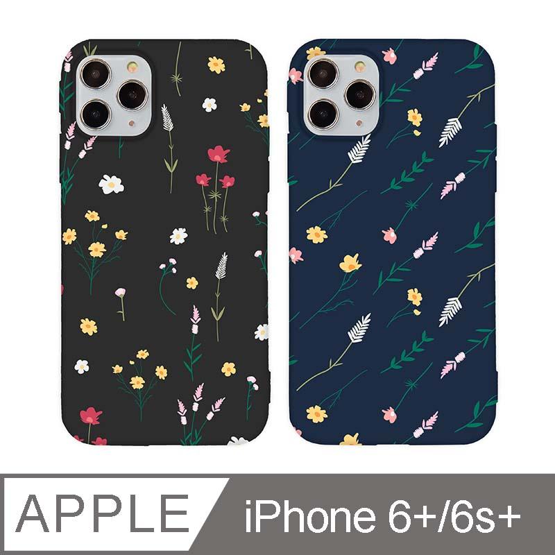 iPhone 6/6s Plus 5.5吋 Small Daisy小雛菊碎花iPhone手機殼 黑色