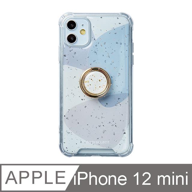 iPhone 12 Mini 5.4吋 風雅紫秘氣墊iPhone防摔殼 附贈同款電鍍指環支架