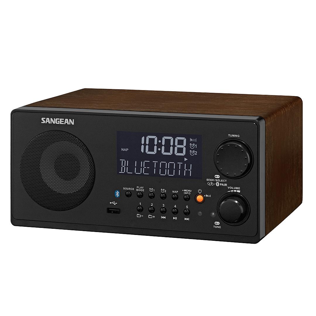 山進SANGEAN WR-22胡桃色藍芽/USB數位收音機.數位音響 FM/AM/藍牙