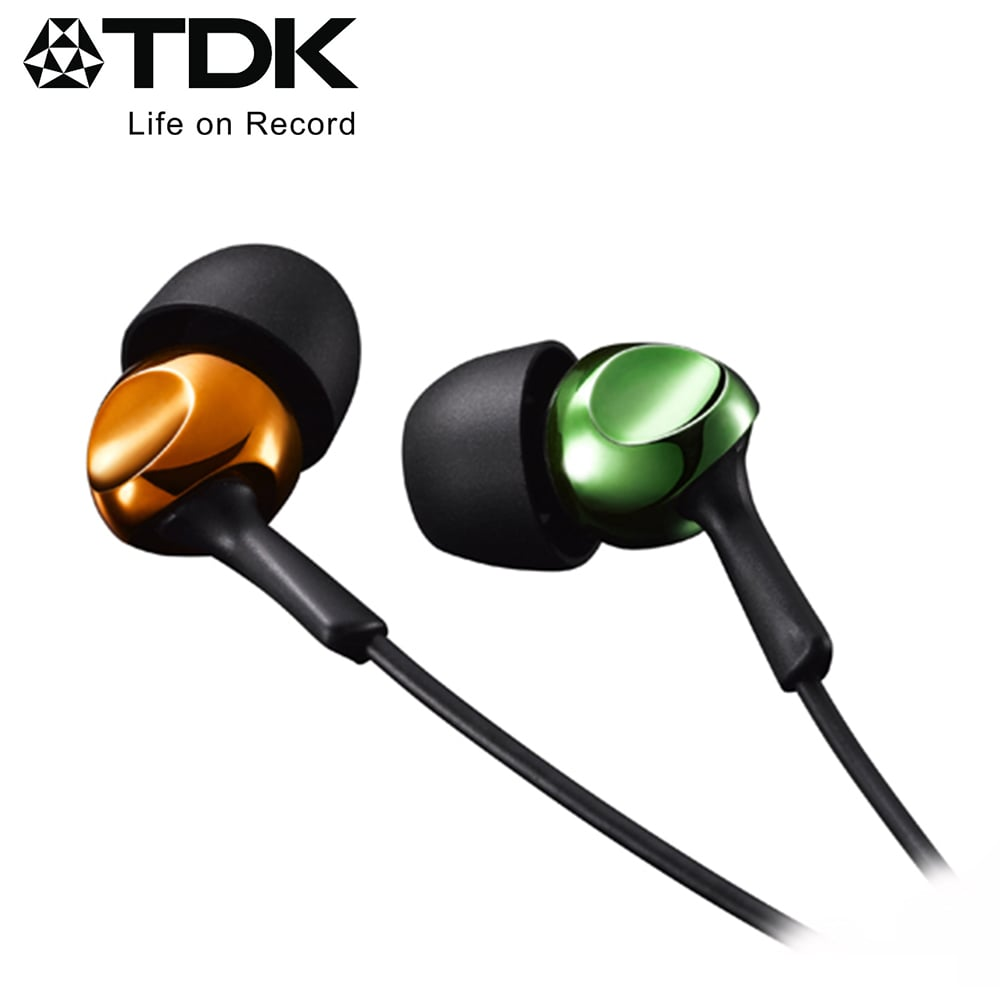 TDK 高質感繽紛系列耳機 CLEF-R2 - 橘綠色