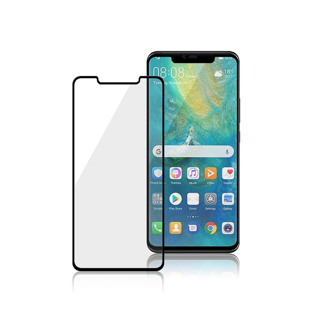 MEGA KING 3D滿版玻璃保護貼 Huawei Mate 20 Pro黑(滿膠)