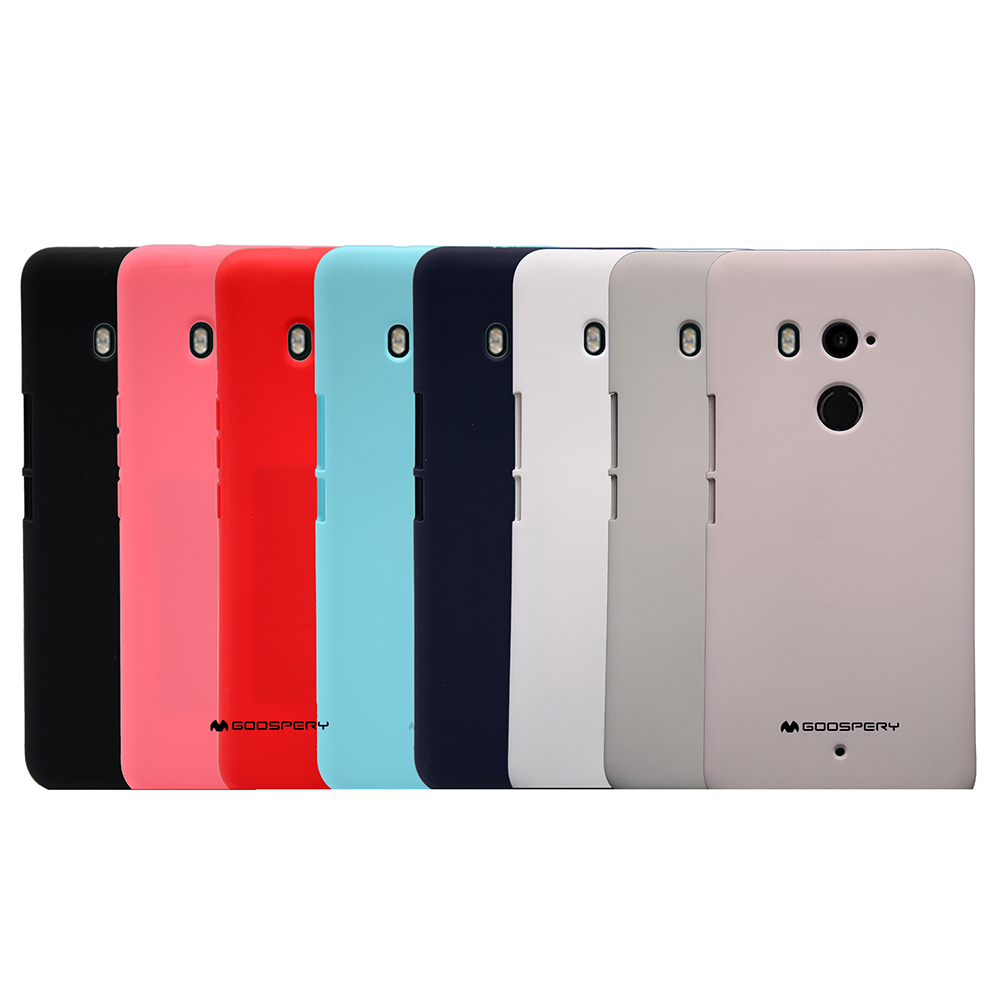 GOOSPERY HTC U11+/U11 Plus SOFT FEELING 液態矽膠殼(深藍)