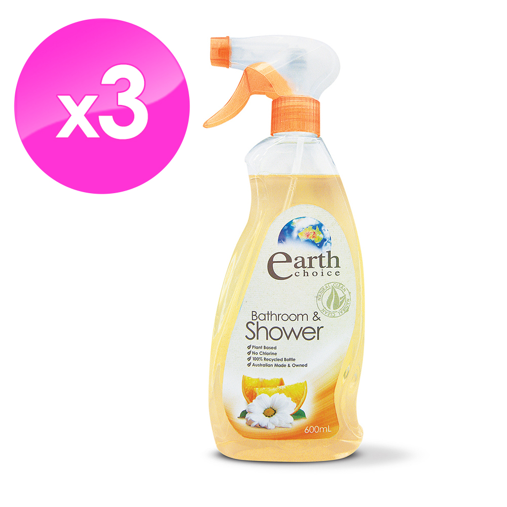 【澳洲Natures Organics】植粹浴室清潔劑600mlx3入