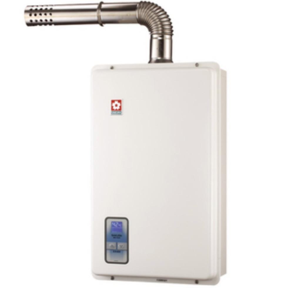 【櫻花 SAKURA】16L數位恆溫智慧水量控制強制排氣熱水器 SH1670F (全台標準安裝,安裝費由現場安裝人員收取)