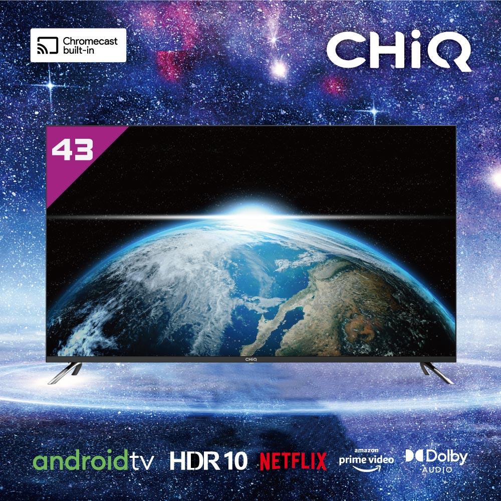 CHIQ 43吋 4K連網液晶顯示器+視訊盒 CQ-43AFM7G (Google TV)(送基本安裝)