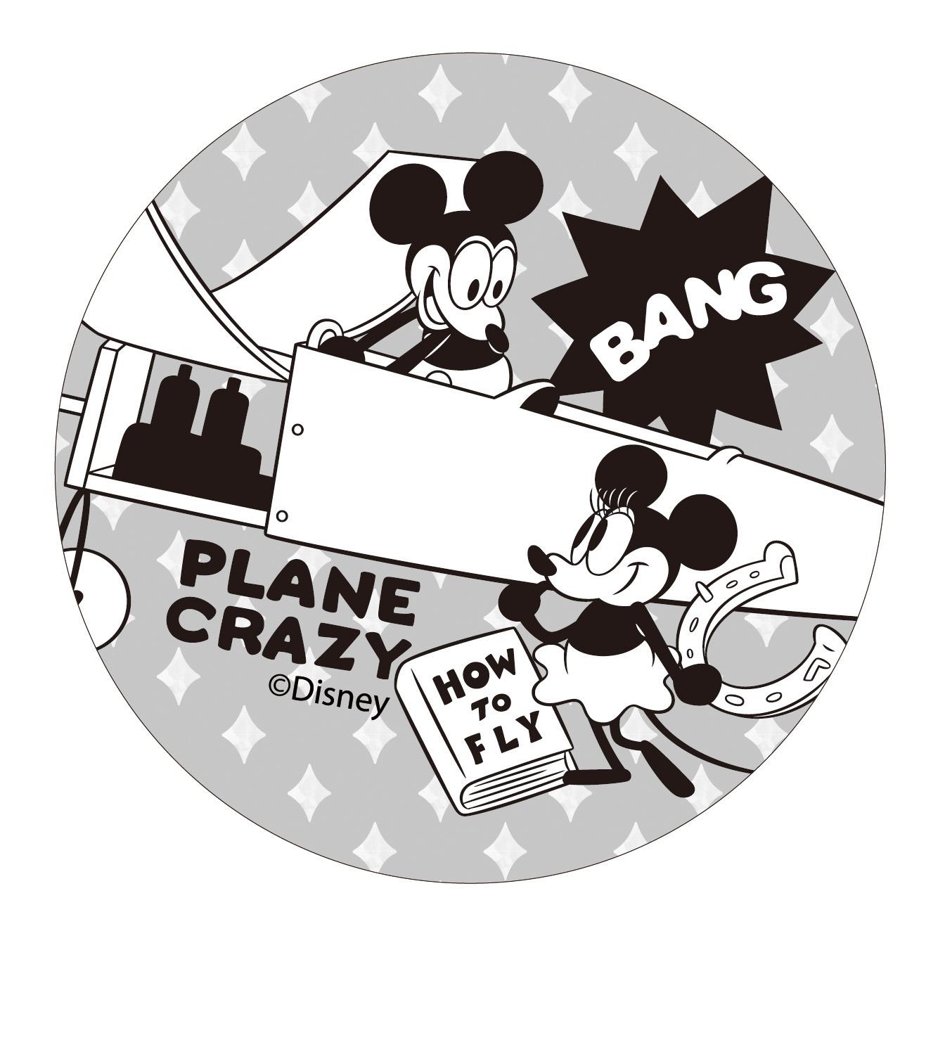 【收納王妃】迪士尼授權復古系列珪藻土吸水杯墊 (2入一組)【瘋狂飛機】