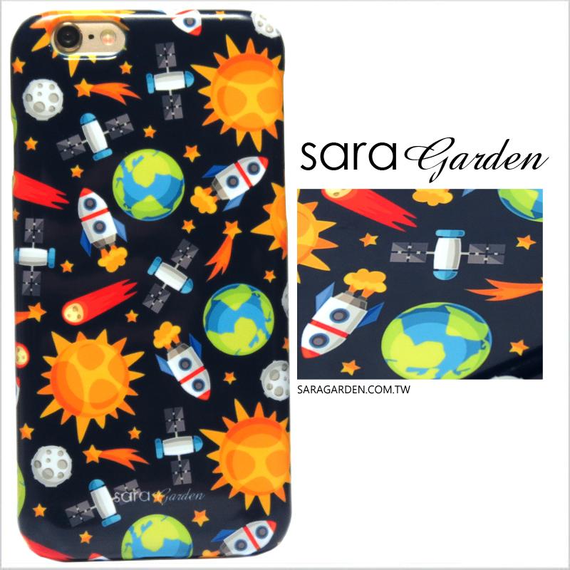 【Sara Garden】客製化 手機殼 蘋果 iPhone 6 6S 4.7吋 滿版 星球 火箭 保護殼 硬殼 限定