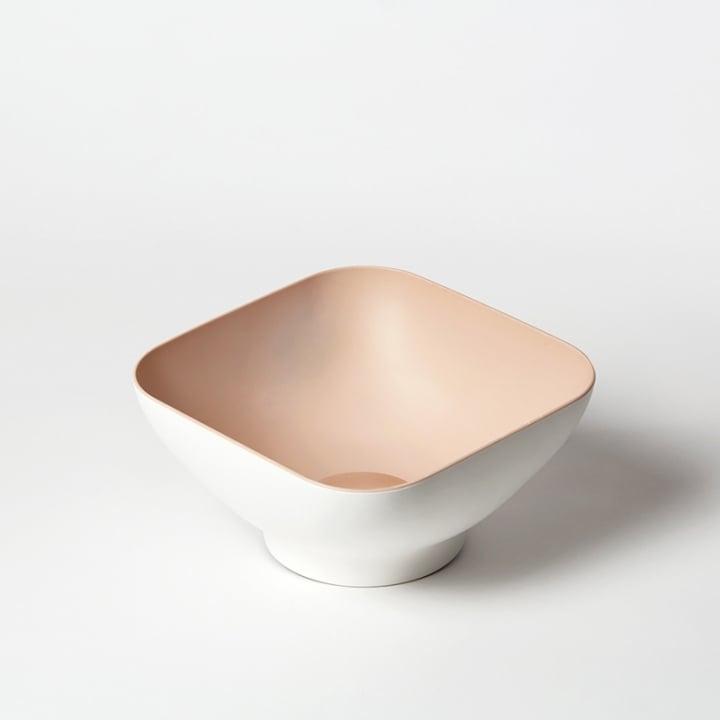 OMMO Diga 濾水方形沙拉碗/粉(二人份)