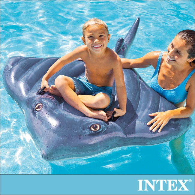 【INTEX】魟魚戲水浮排/水上坐騎 適用3歲以上(57550)