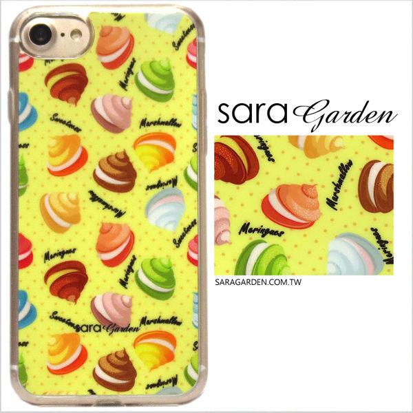 【Sara Garden】客製化 軟殼 蘋果 iPhone7 iphone8 i7 i8 4.7吋 手機殼 保護套 全包邊 掛繩孔 繽紛馬卡龍