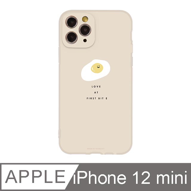 iPhone 12 Mini 5.4吋 Smilie微笑荷包蛋霧面抗污iPhone手機殼