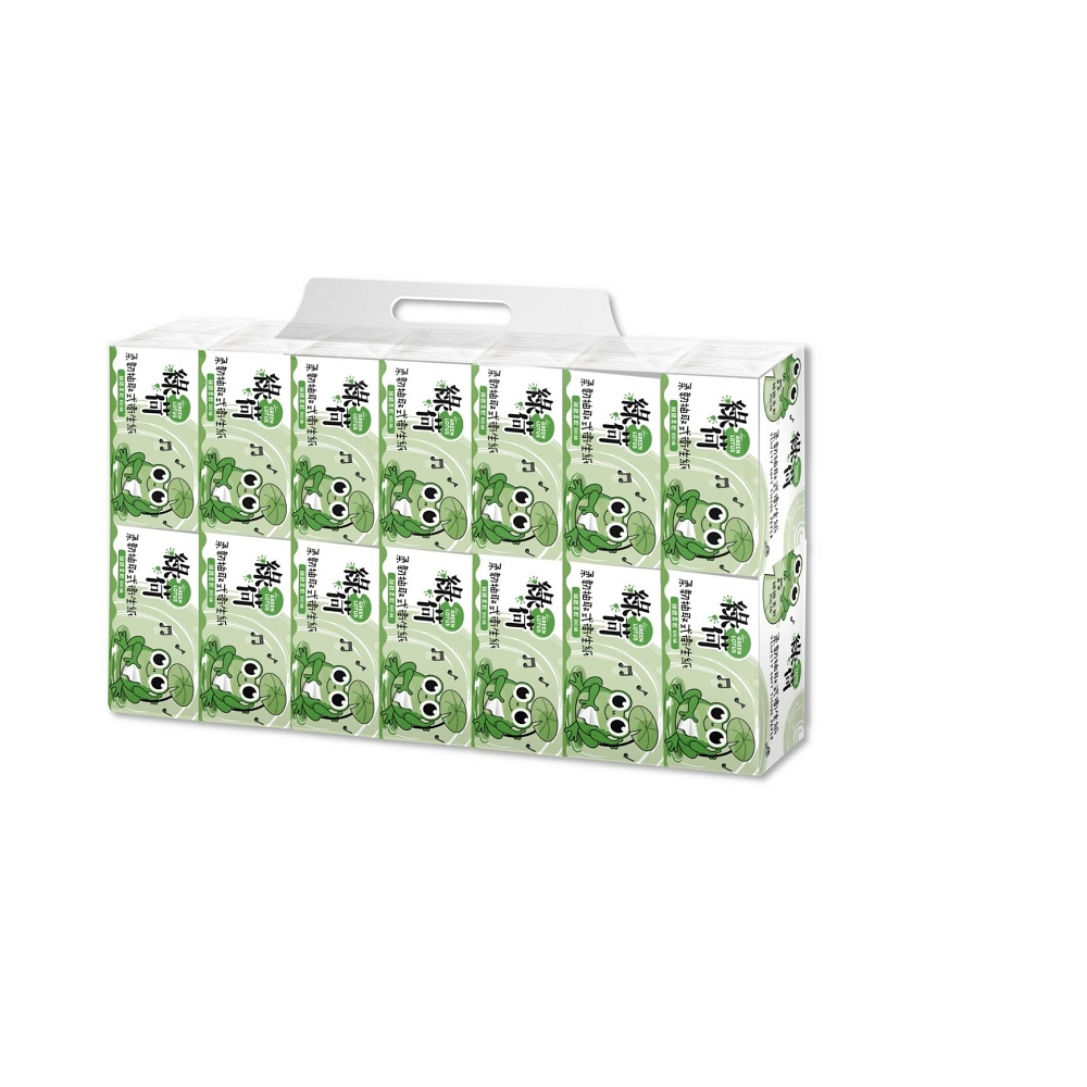 綠荷柔韌抽取式花紋衛生紙100抽112包/箱