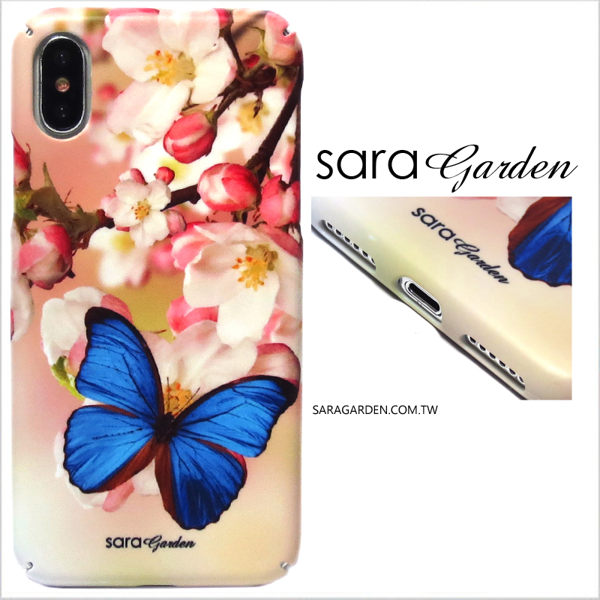 【Sara Garden】客製化 全包覆 硬殼 Samsung 三星 S8 手機殼 保護殼 蝴蝶粉嫩碎花
