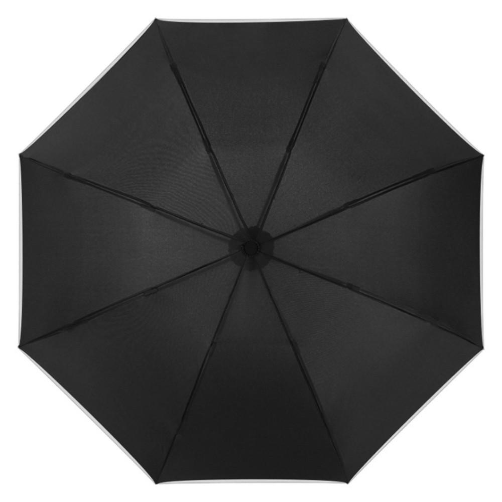 【FJ】全自動反向折疊加大伸縮雨傘(附收納帶)黑色