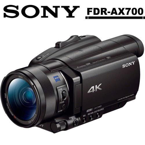 加贈原廠NP-FV100A電池 SONY FDR-AX700 數位攝影機(公司貨) 送64G記憶卡超值組