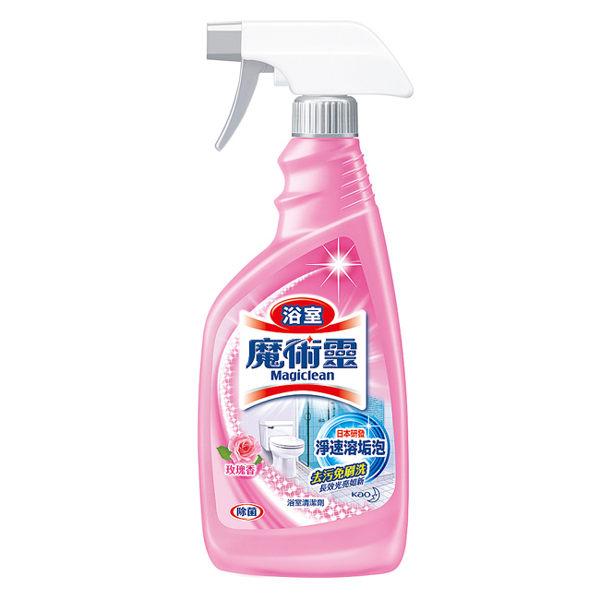 【魔術靈】浴室清潔劑 玫瑰香 噴槍式x4瓶(500ml/瓶)
