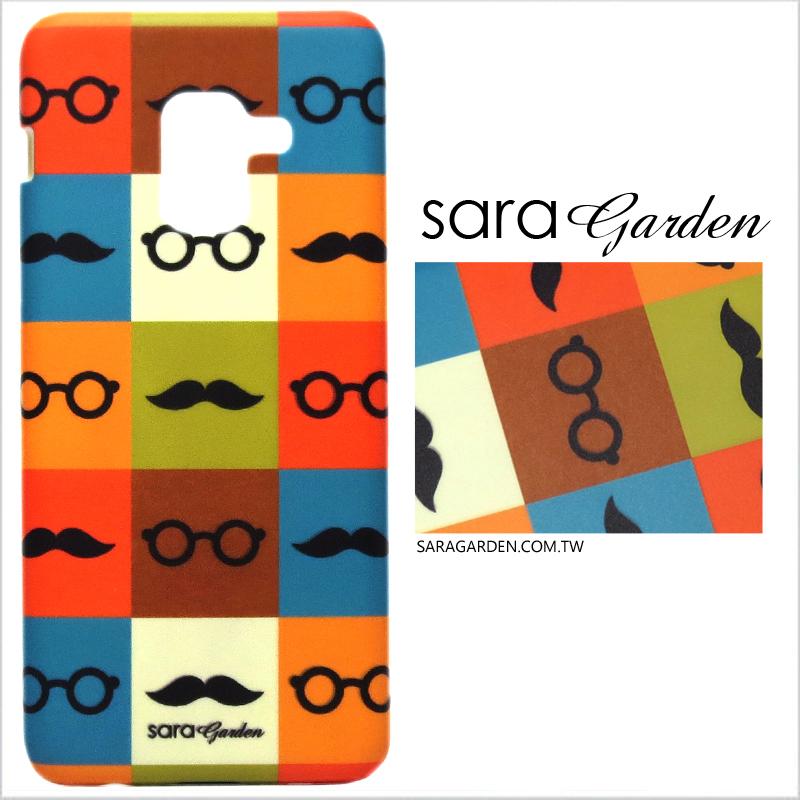 【Sara Garden】客製化 手機殼 蘋果 iPhone7 iphone8 i7 i8 4.7吋 撞色翹鬍子 手工 保護殼 硬殼