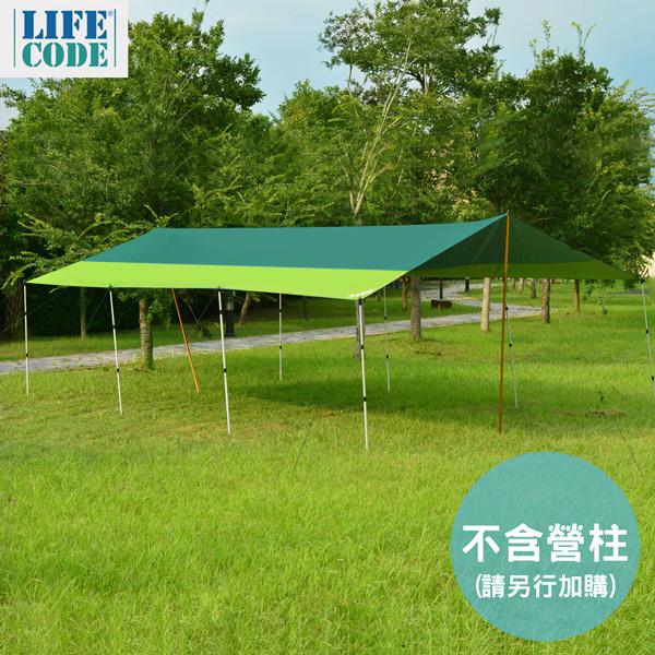 【LIFECODE】800x500cm兩用塗銀布/抗UV天幕帳5*8M (綠色)