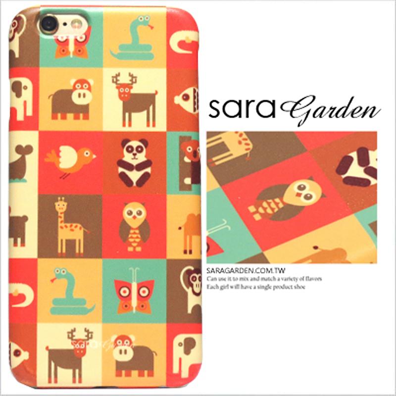 【Sara Garden】客製化 手機殼 HTC M7 動物 拼接 格子 保護殼 硬殼 限定