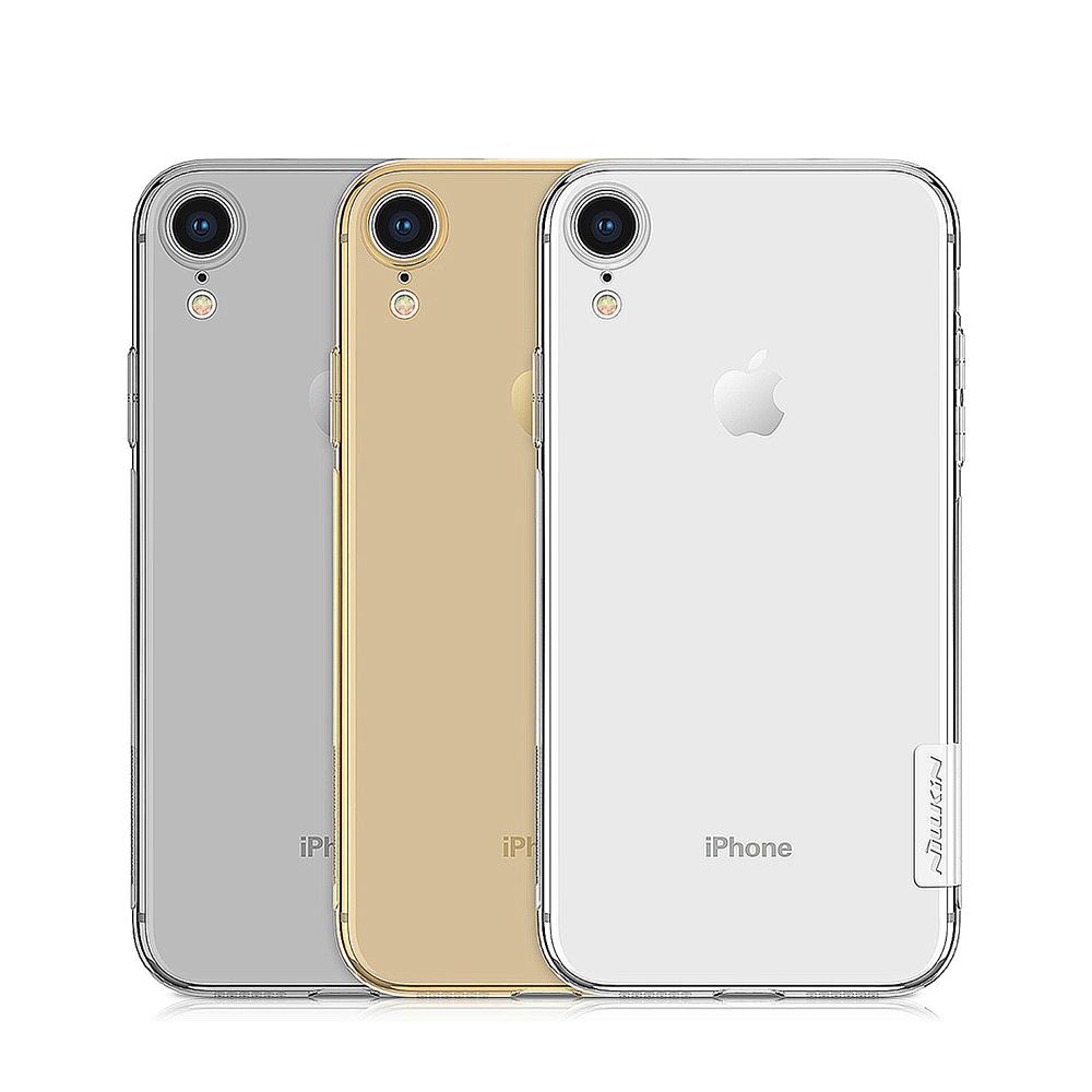 NILLKIN Apple iPhone XR 本色TPU軟套(棕茶(透金))