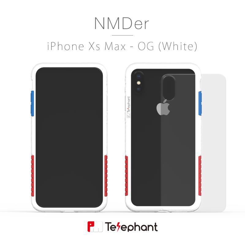 太樂芬 NMDer 防摔手機殼 iPhoneXs Max OG白(紅藍色塊)