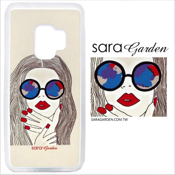 客製化 光盾 手機殼 Samsung 三星 Note8 透明防滑紋 保護套 軟邊 防摔殼 個性紅唇女孩