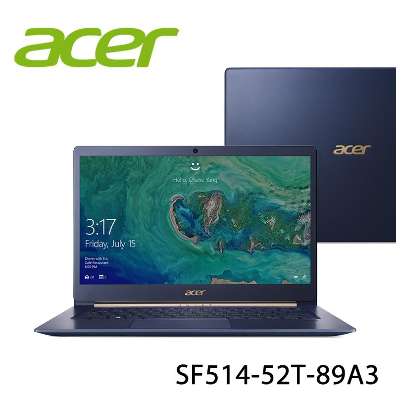 【ACER宏碁】SF514-52T-89A3 藍 14吋 筆電-送美國OSTER 隨行杯果汁機 90th紀念款+無線滑鼠+office365個人一年版