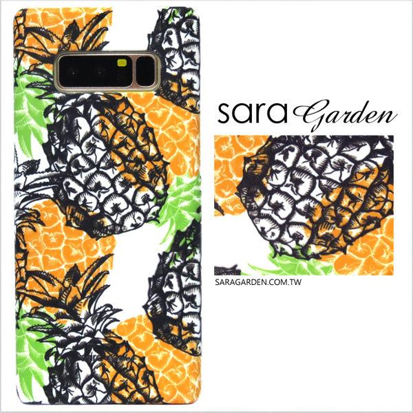 【Sara Garden】客製化 手機殼 小米 Mix2 手工 保護殼 硬殼 手繪滿版鳳梨