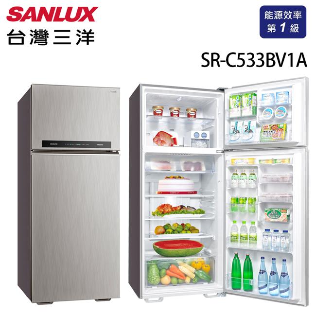 【SANLUX 台灣三洋】533公升 雙門直流變頻冰箱 SR-C533BV1A 含原廠配送及基本安裝