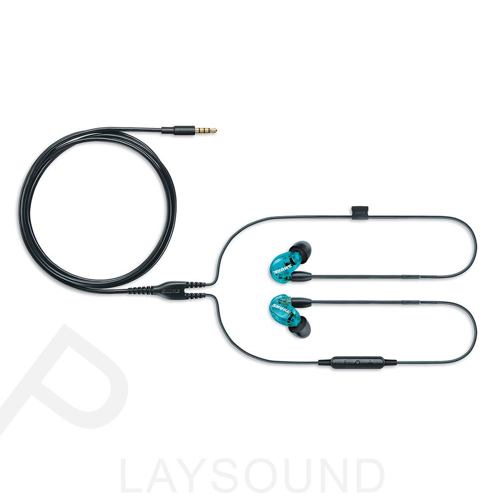 SHURE SE215SPE-B-UNI特別版 線控版 藍色 隔音耳機 可換線 監聽級 入耳式耳機