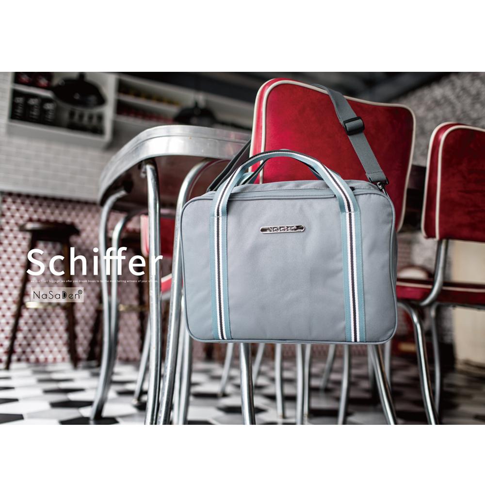 【德國品牌NaSaDen】雪佛包-肩背/手提/穿套行李箱(卡其藍)
