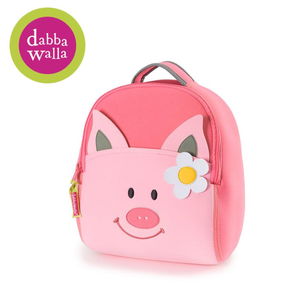 美國Dabbawalla瓦拉包 -粉紅豬兒童後背包