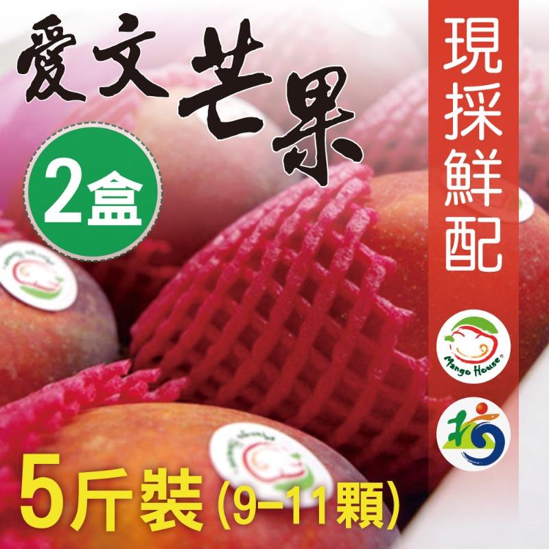 【MANGO HOUSE】枋山愛文芒果5斤/盒x2盒(9~11顆/盒) 輸日等級 擁有生產追溯碼