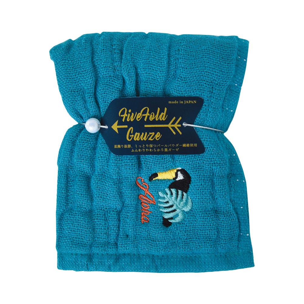 Nicott 日本五重珍珠紗方巾〈土耳其藍巨嘴鳥兩入組〉