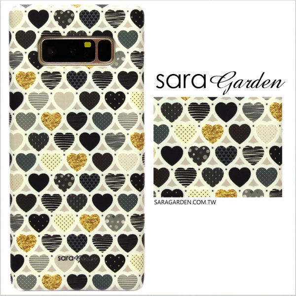 【Sara Garden】客製化 手機殼 Samsung 三星 Note8 愛心 金箔 圓點 保護殼 硬殼