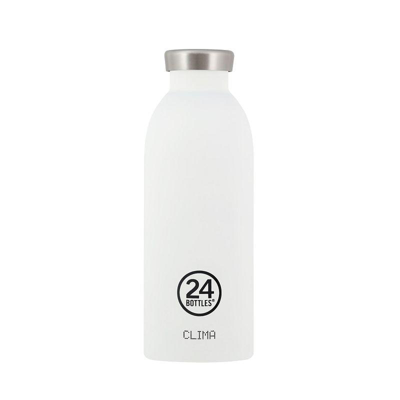 義大利 24Bottles Clima不銹鋼雙層保溫瓶 500ml - 冰雪白