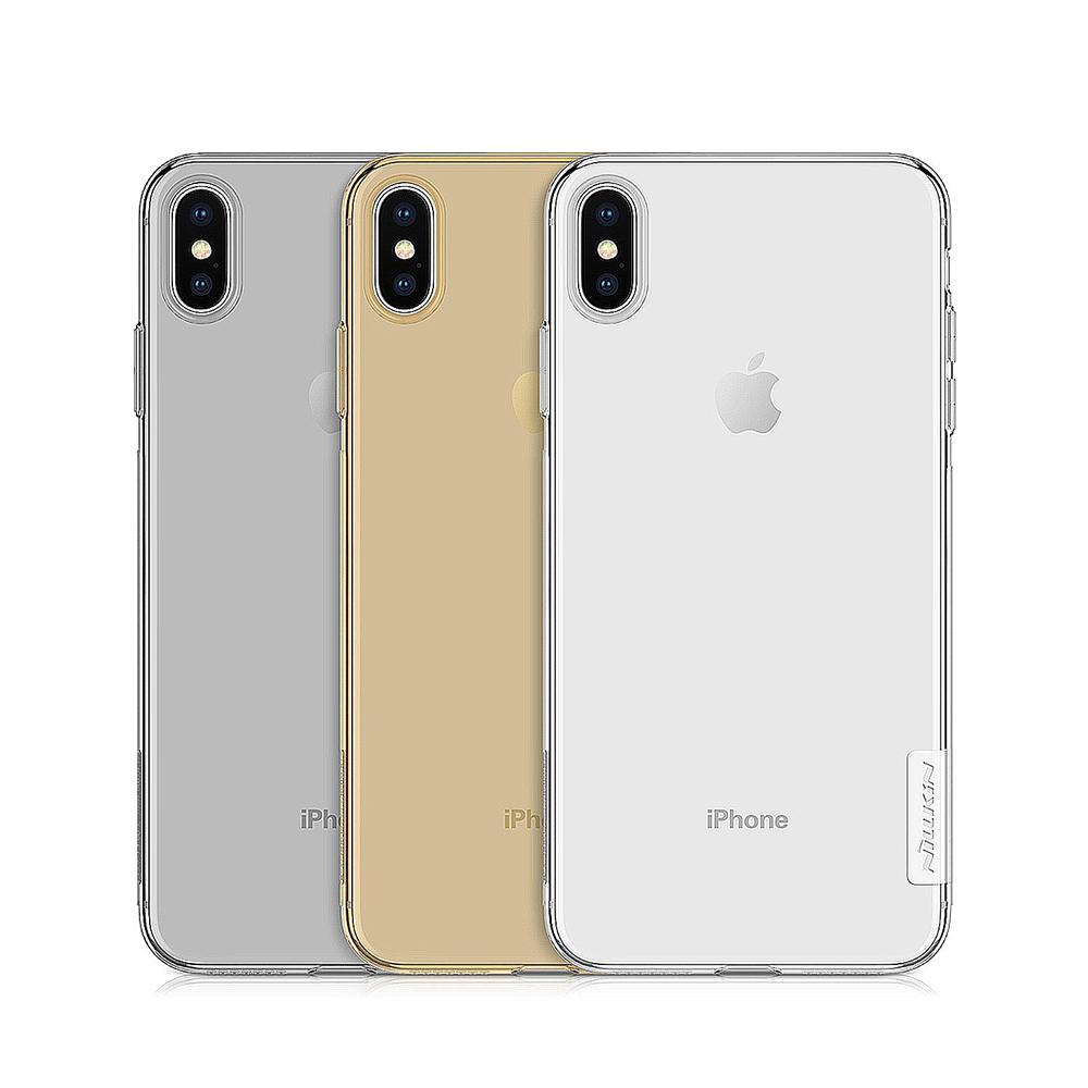 NILLKIN Apple iPhone Xs Max 本色TPU軟套(深灰)