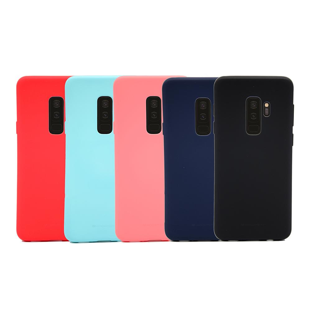 GOOSPERY SAMSUNG Galaxy S9+ SOFT FEELING 液態矽膠殼(紅色)
