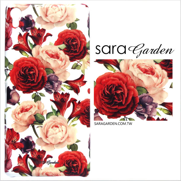【Sara Garden】客製化 手機殼 SONY L2 水彩 玫瑰 碎花 綻放 保護殼 硬殼