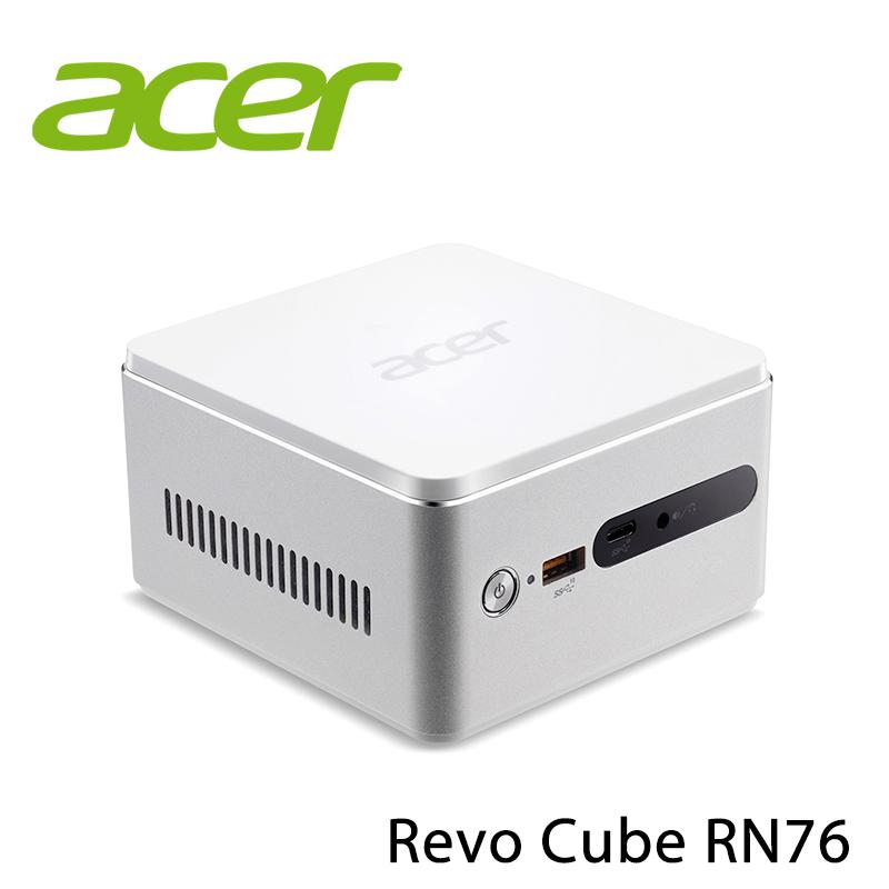 【ACER宏碁】Revo Cube RN76 i3-7130U 桌上型電腦-送德律風根14吋機械式AC立扇(鑑賞期後寄出)