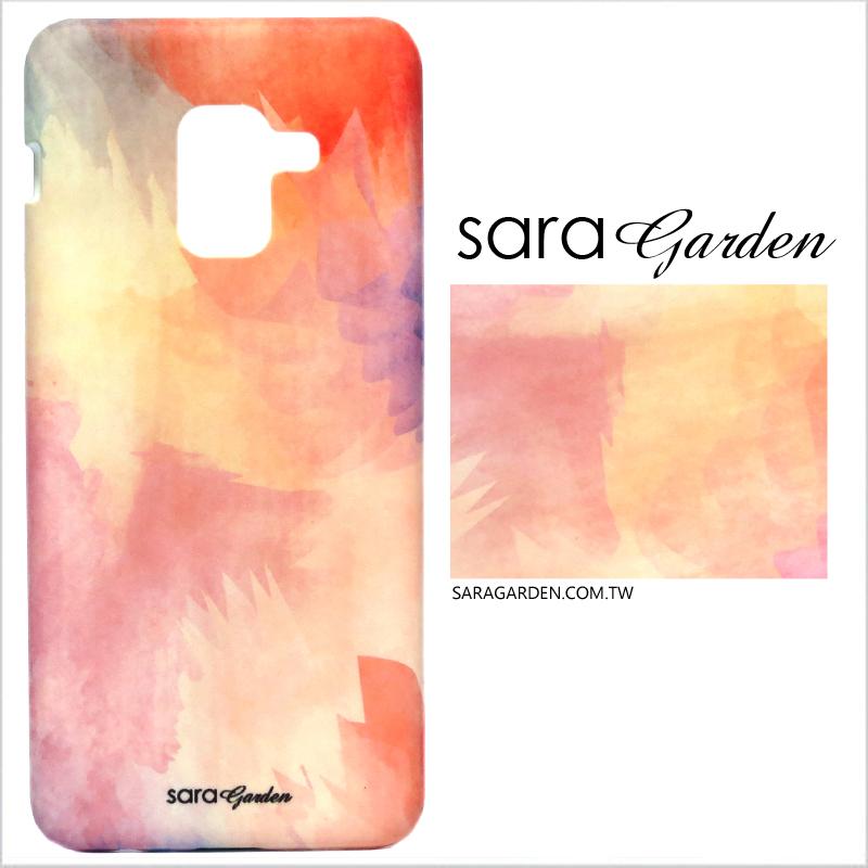 【Sara Garden】客製化 手機殼 Samsung 三星 A8Plus A8+ 2018 渲染粉紫 手工 保護殼 硬殼
