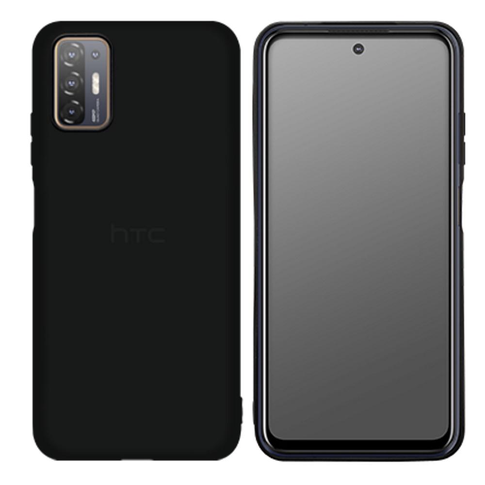 HTC Desire 21 pro 5G 馬卡龍矽膠保護殼 黑色