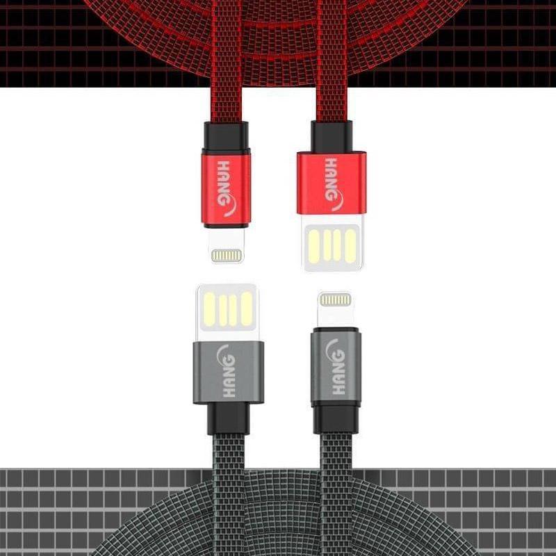 HANG 3.4A H63扁線傳輸數據線 FOR Micro (灰色)