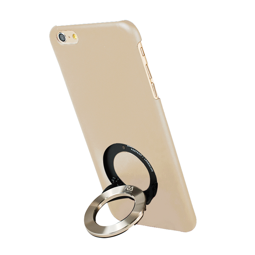 【Rolling Ave.】iCircle iphone 6/6S 手機保護殼-米色金環