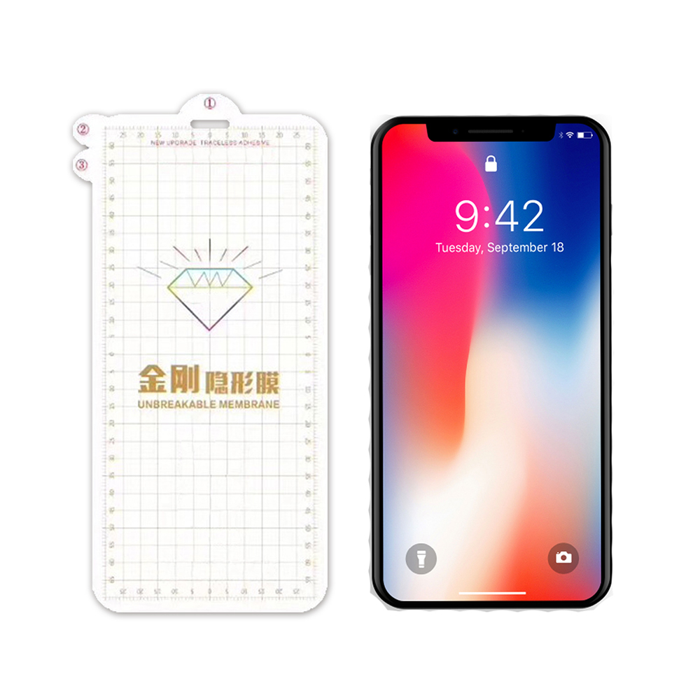 QinD Apple iPhone X 金剛隱形膜(背膜)