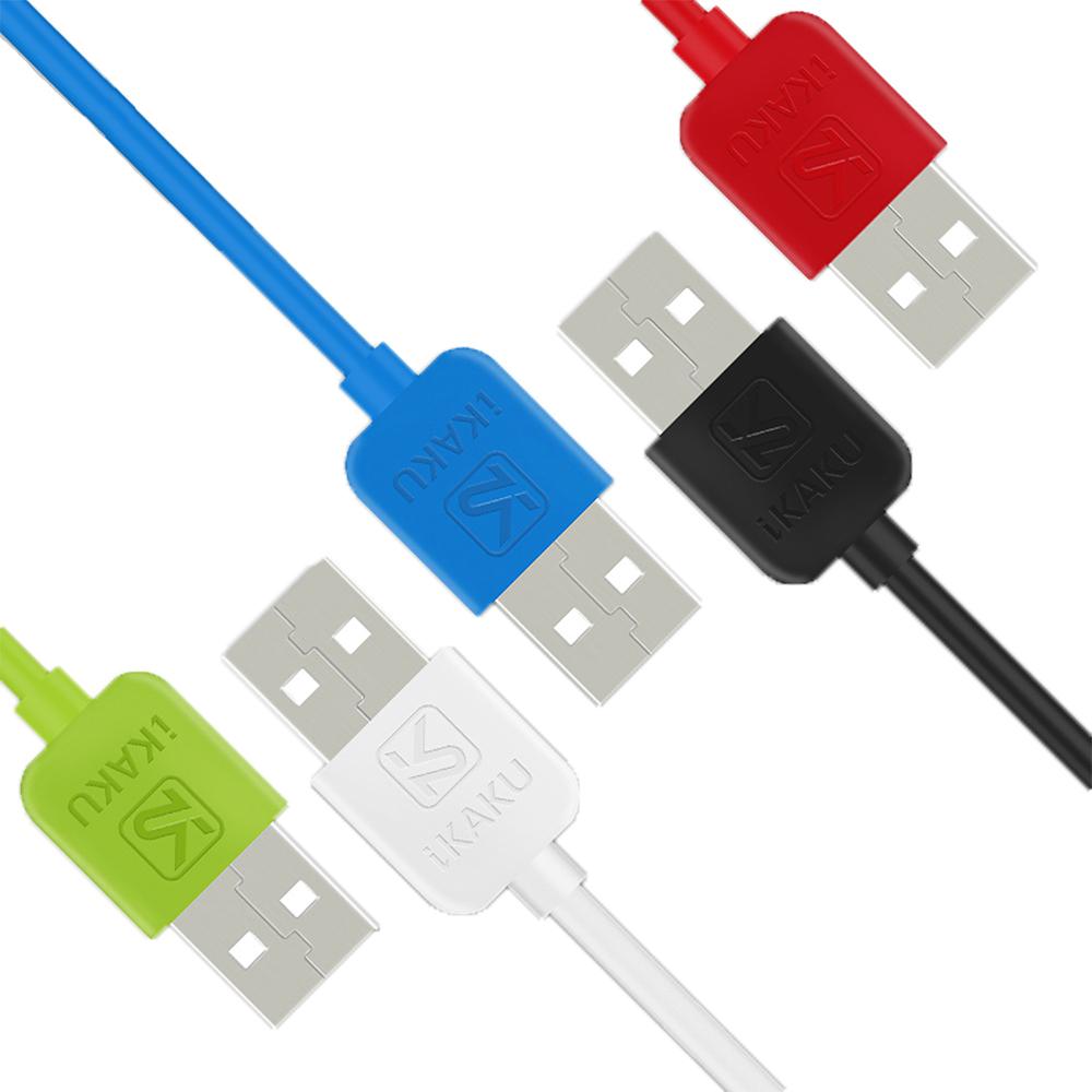 iKAKU Micro USB 旋風傳輸充電線(藍色)