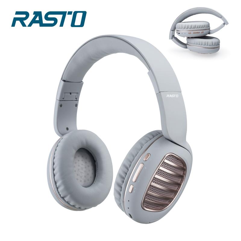 RASTO RS23 藍牙經典復古摺疊耳罩式耳機-灰