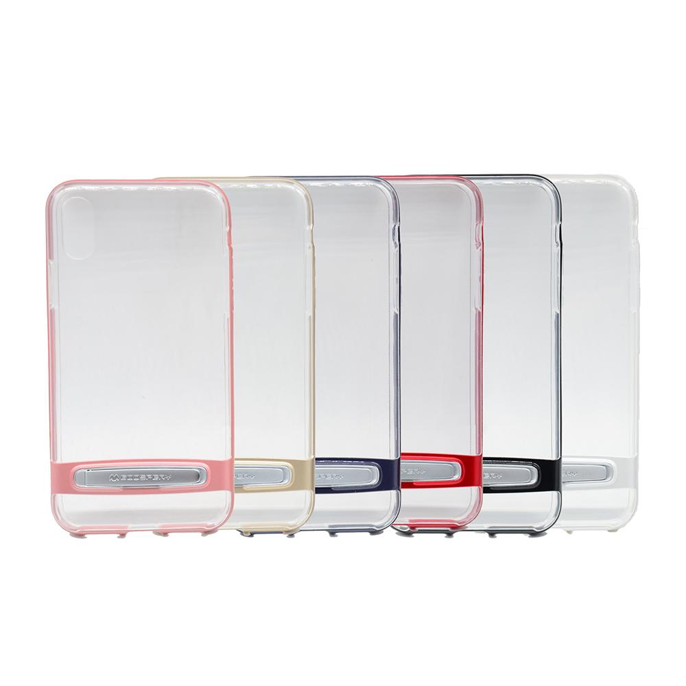 GOOSPERY Apple iPhone X Dream Bumper 透明支架殼(黑色)