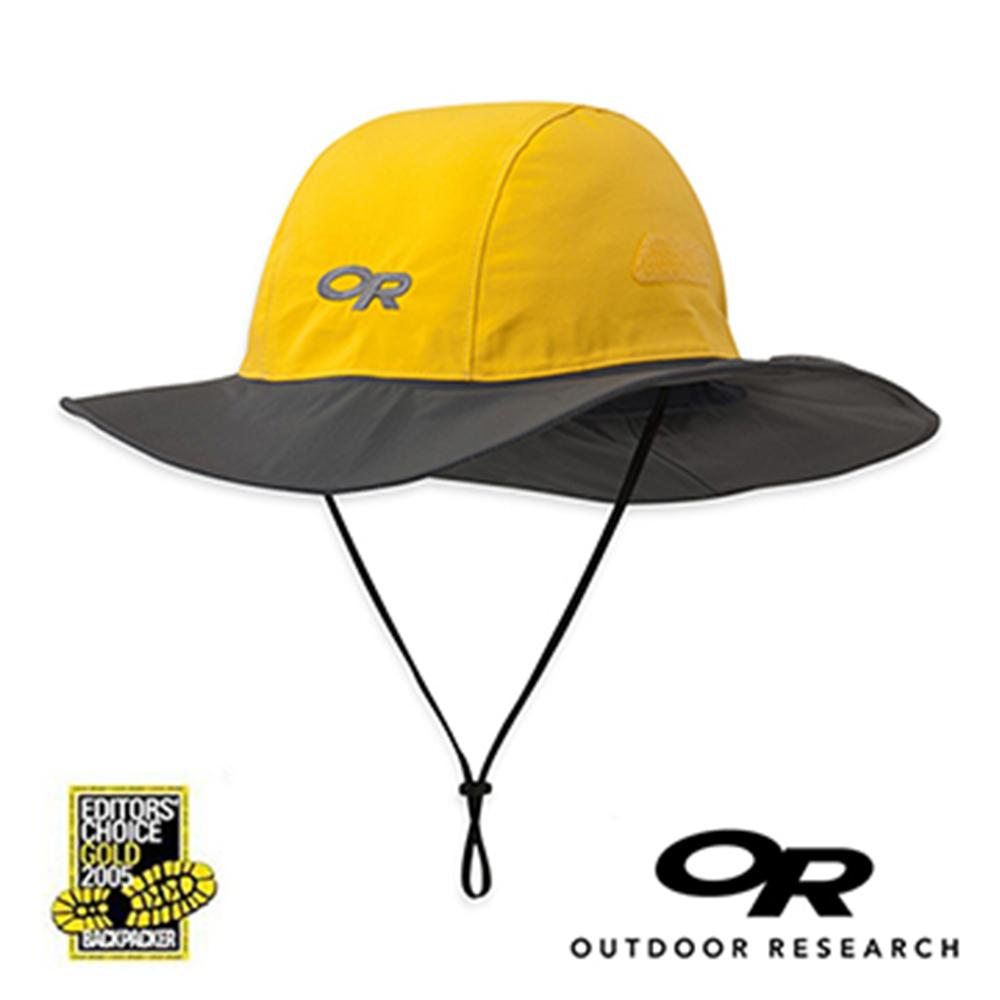 【美國Outdoor Research】黃色M-經典款Gore-Tex防水透氣防曬可折疊遮陽帽(9/30~10/3訂單會延後至10/5開始出貨)